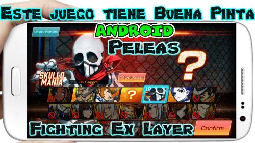 Fighting Ex Layer a para Android Impresionante juego de Peleas