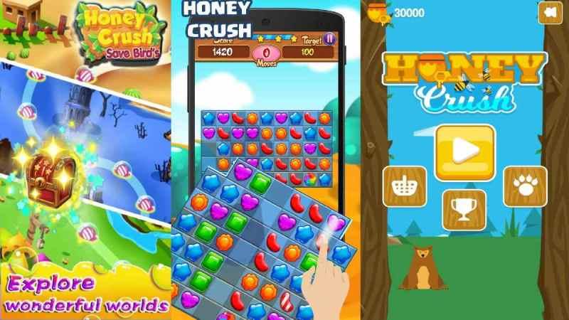 Honey Crush apk Mod 2020 para Android juego con todo ilimitado