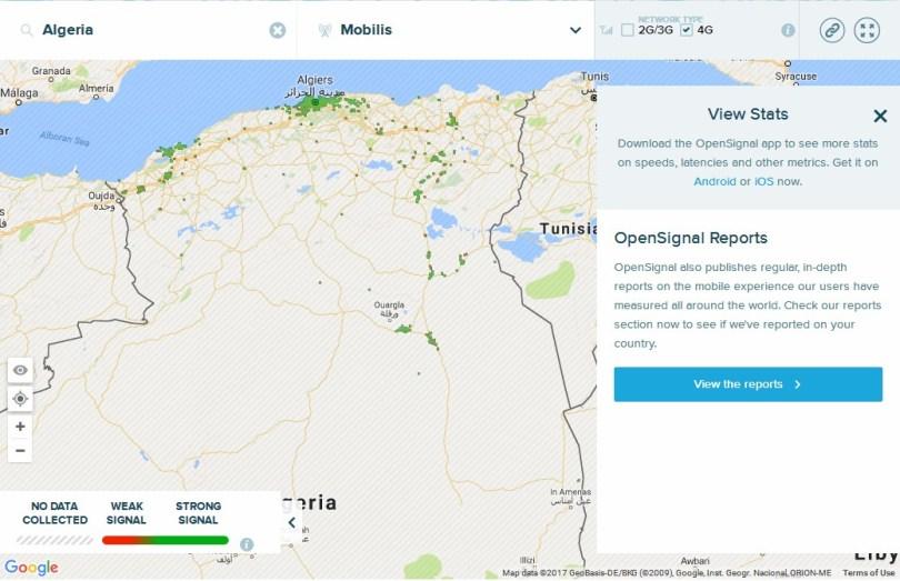 تقرير : تغطية الجيل الرابع للمتعاملين الثلاث (موبيليس ، جيزي ، أوريدو) في الجزائر
