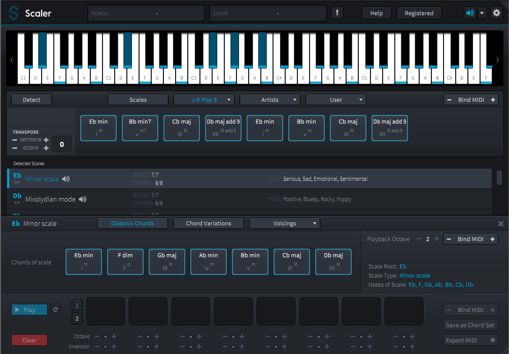 Review of Scaler – chord detection and creative chord progression creator utility (VST/AU/AAX) by PluginBoutique