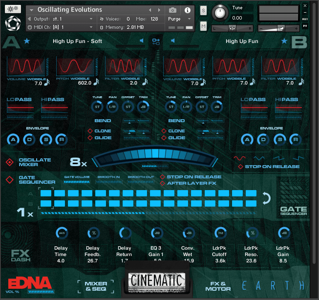 Review of eDNA Earth – A synthesiser made of orchestras – a virtual instrument for Kontakt (full version or player) by Spitfire Audio