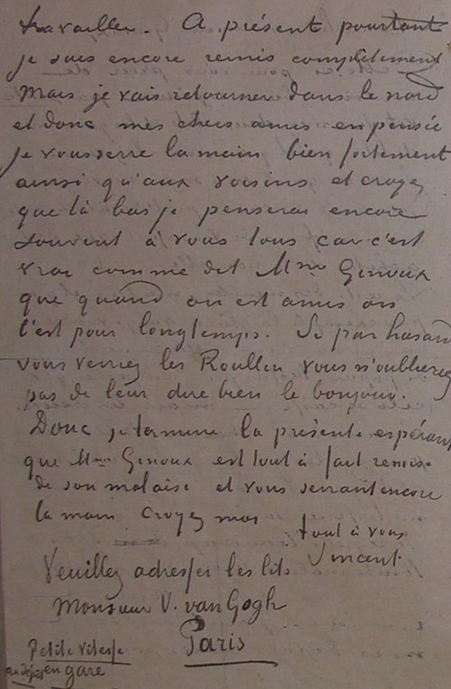 Van Gogh Vincent 1853  1890  Andrusier Autographs