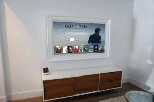 Custom White TV frame
