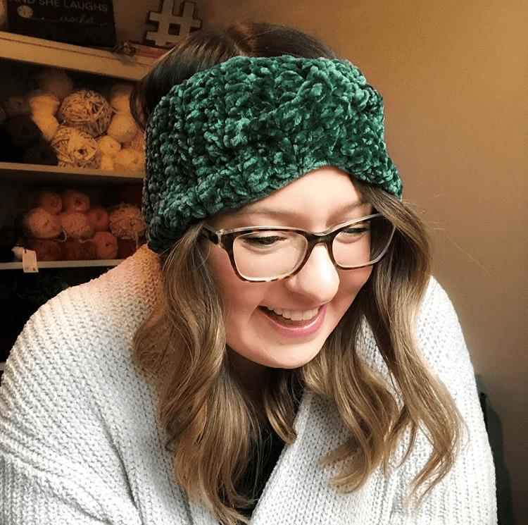 Velvet Twist Headband by Chrisandra @ And She Laughs