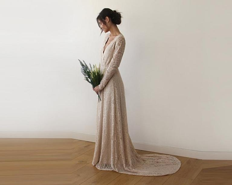 10 Etsy Shops With Wedding Dresses Under 500 Dollars Andthebee