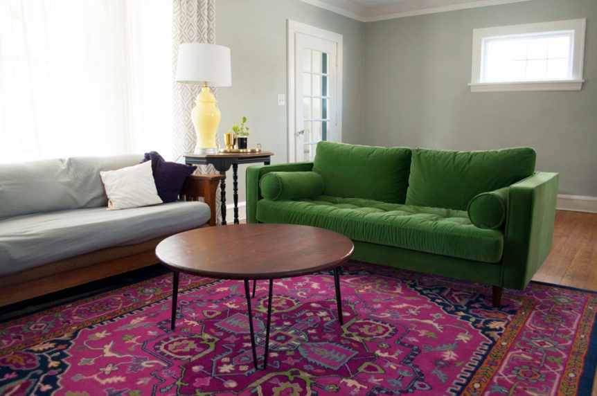 colorful living room refresh