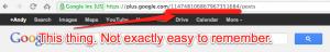 Google+ URL