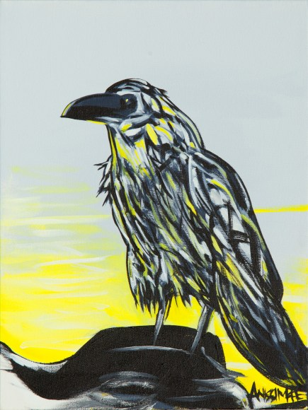 Raven, size 12x16 in., canvas giclée print available in size R1