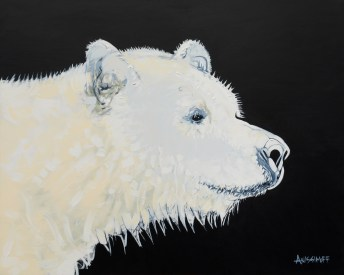 Spirit Bear, size 16x20 in., canvas giclée print available in size R2