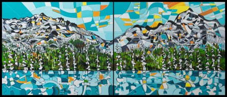 Whistler Blackcomb, original size 74x88 in. (x2), canvas giclée print available in sizes R2,R4 or custom order