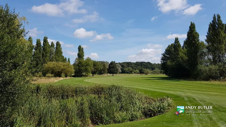 autumn renovation golf green maintenance-ferndown-august-2019 andy butler sports ground specialist-b0003