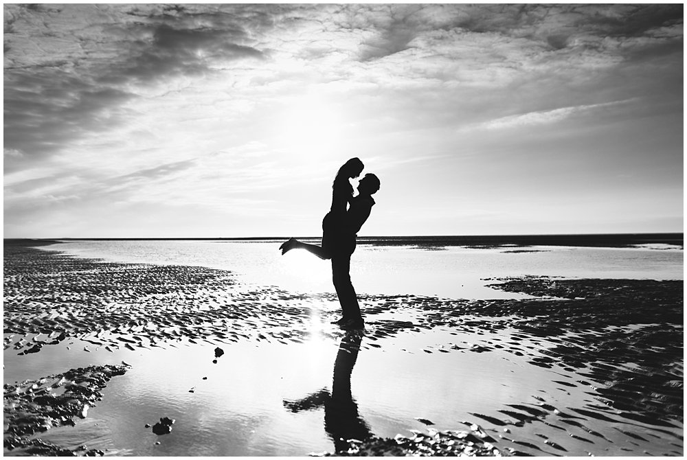 Louise and David Wells Beach Pre-Wedding Shoot - Norwich and Norfolk Wedding