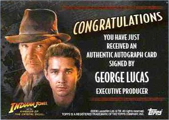 Autographs from Star Wars actors in nonStar Wars sets