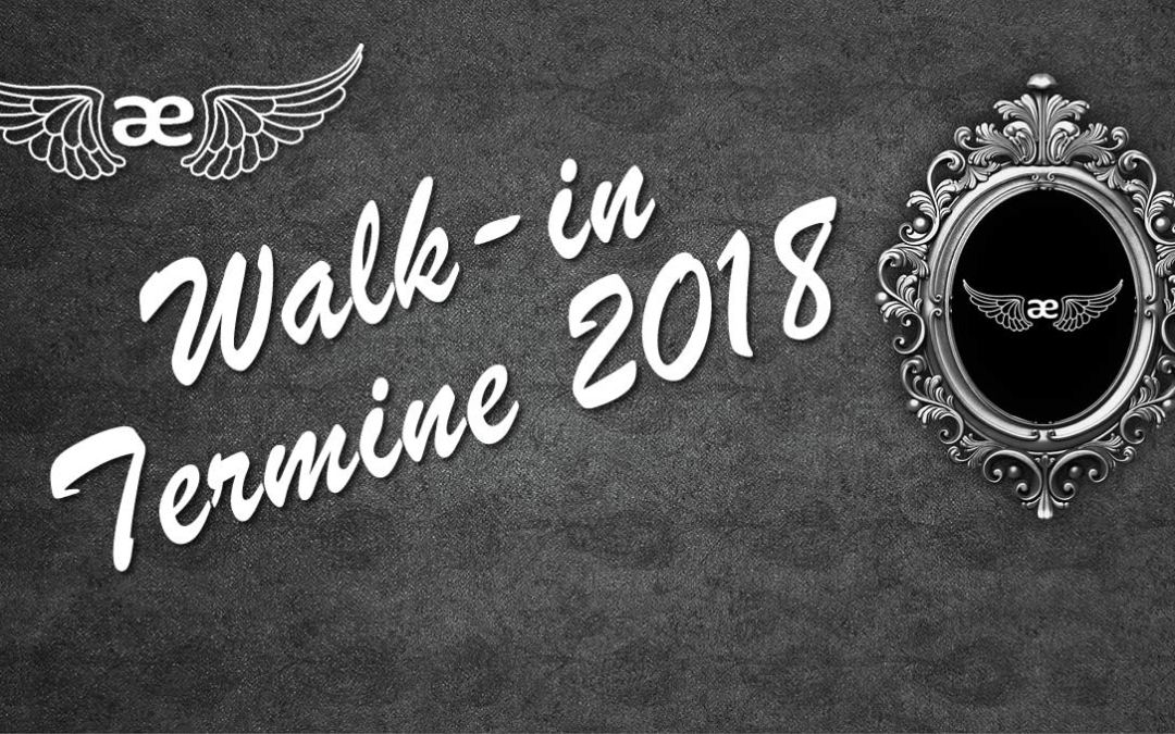 Neue Walk-in Termine 2018