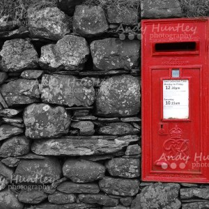 Post box in drystone wall