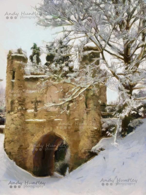 Reigate Castle in Winter