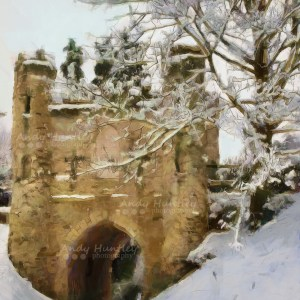Reigate Castle in Winter