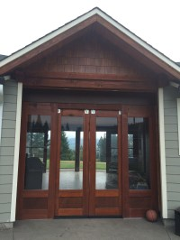 Exterior barn doors w glass