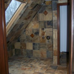 Commercial Kitchen Cabinets White Island Cart Slate-shower-1 - Home Construction & Remodel Vancouver, Wa