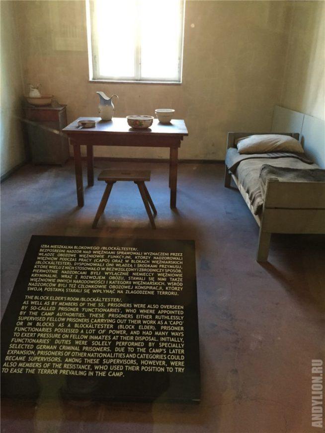 Камера заключенных работавших на СС