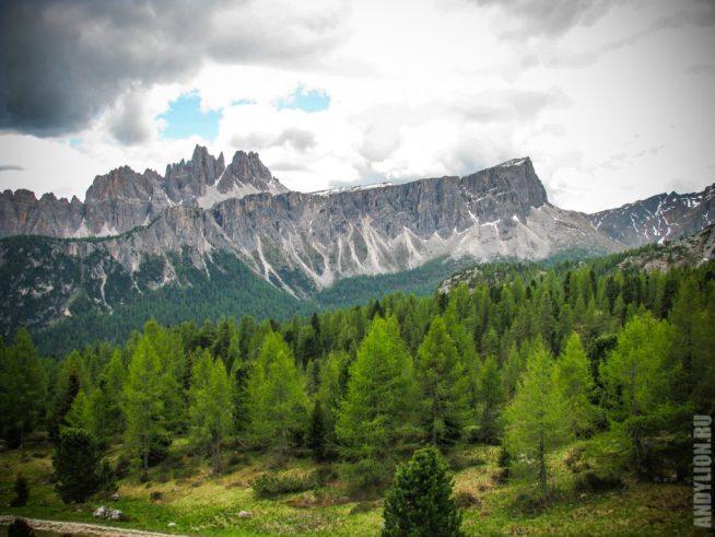 Доломитовые Альпы. Вид от Чинкве Торри.