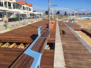 Rockingham Foreshore Revitalisation Boardwalk with Furniture