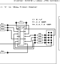 my livebox wiggler jtag schematic the 30 way connector and flat cable  [ 3004 x 1538 Pixel ]