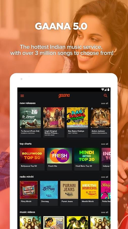 Download Gaana Bollywood & Hindi Songs Android App for PC/Gaana Bollywood & Hindi Songs on PC