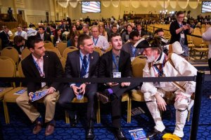 College students talk to tea partier at CPAC