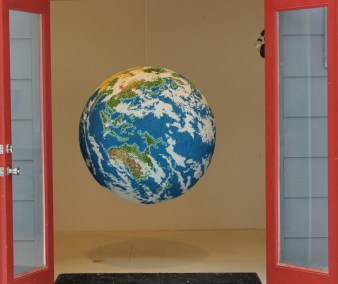 Globe in doorway, Andy Yoder, 2013