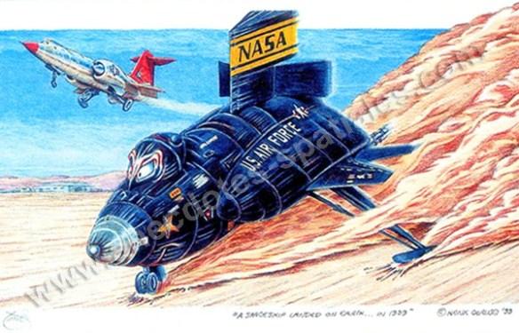 Un vaisseau spatial a atterri sur Terre X-15