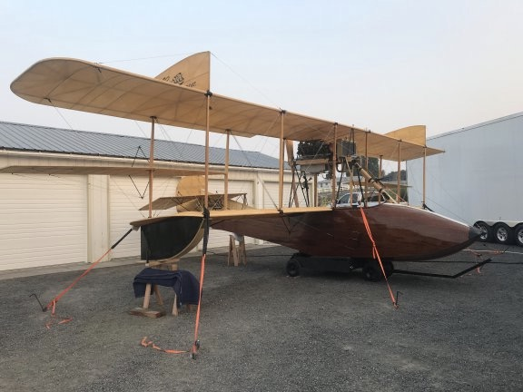 Curtis Flying Boat, Parked