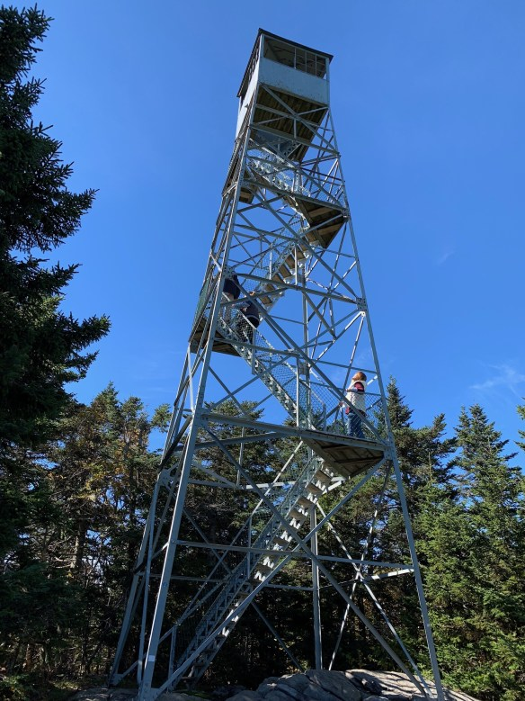Fire tower atop Ludlow Mountain.