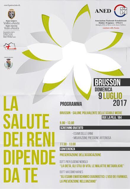 Brusson, 9 luglio, dalle ore 9 alle 13, Salone Polivalente delle Scuole Medie, Rue La Pila 184