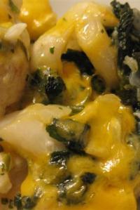 Cauliflower-Spinach Gratin