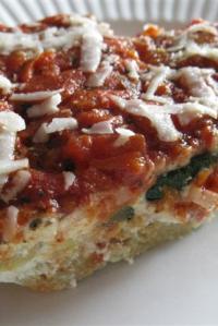 Roasted Zucchini Spaghetti Pie
