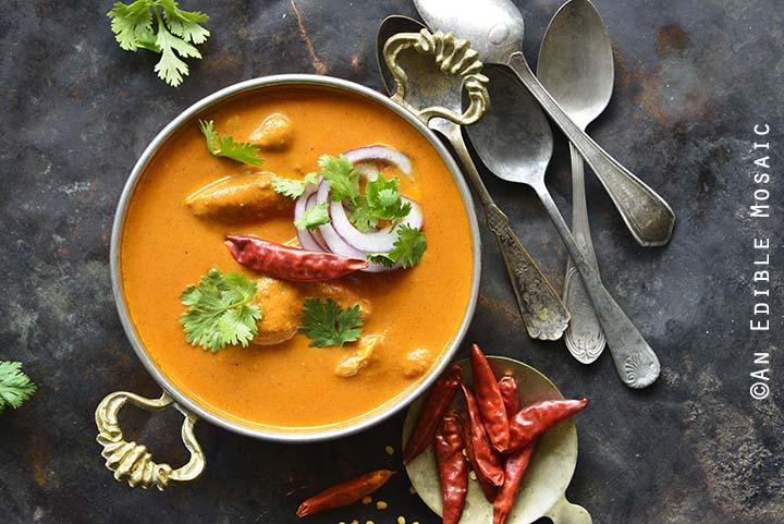 Close Up of Indian Butter Chicken Recipe (Murgh Makhani)