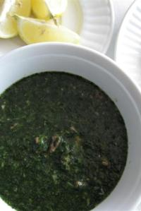Jew's Mallow Soup (Molokhia)