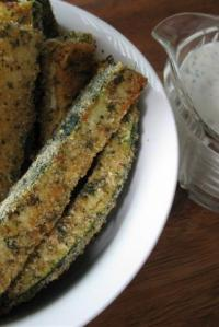 Baked Zucchini Fries with Homemade Buttermilk-Yogurt Ranch Dressing