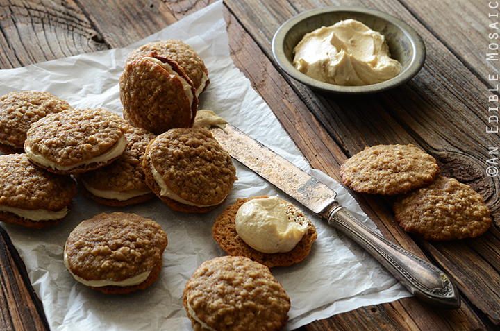 Oatmeal Cream Pies with Rum-Raisin Brown Sugar Buttercream Frosting 4