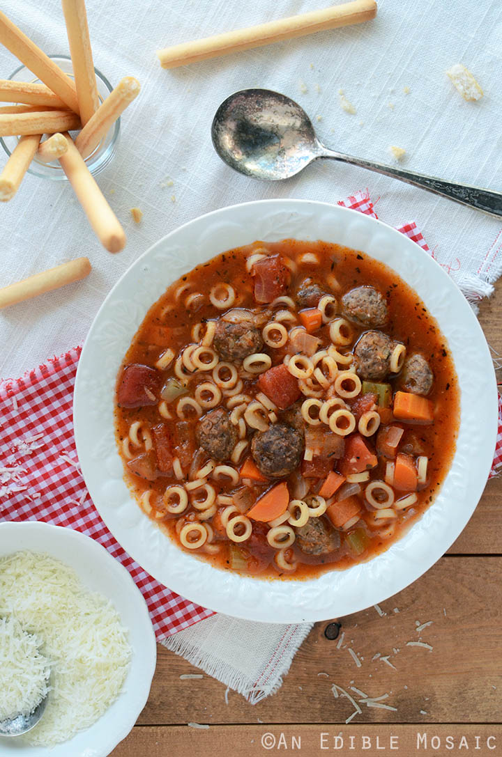 Spaghetti Ring and Meatball Soup 2