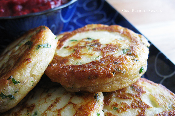 Garlicky Mashed Potato Cakes 4