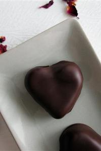 Chocolate-Covered Marzipan Hearts