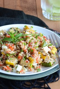 Meals in Minutes — Leftover Grilled Veggie & Bulgur Wheat Lunch