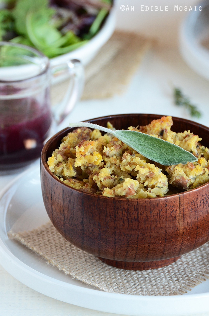 Turkey-Sage Cornbread Stuffing 2