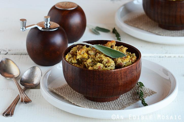 Turkey-Sage Cornbread Stuffing 3