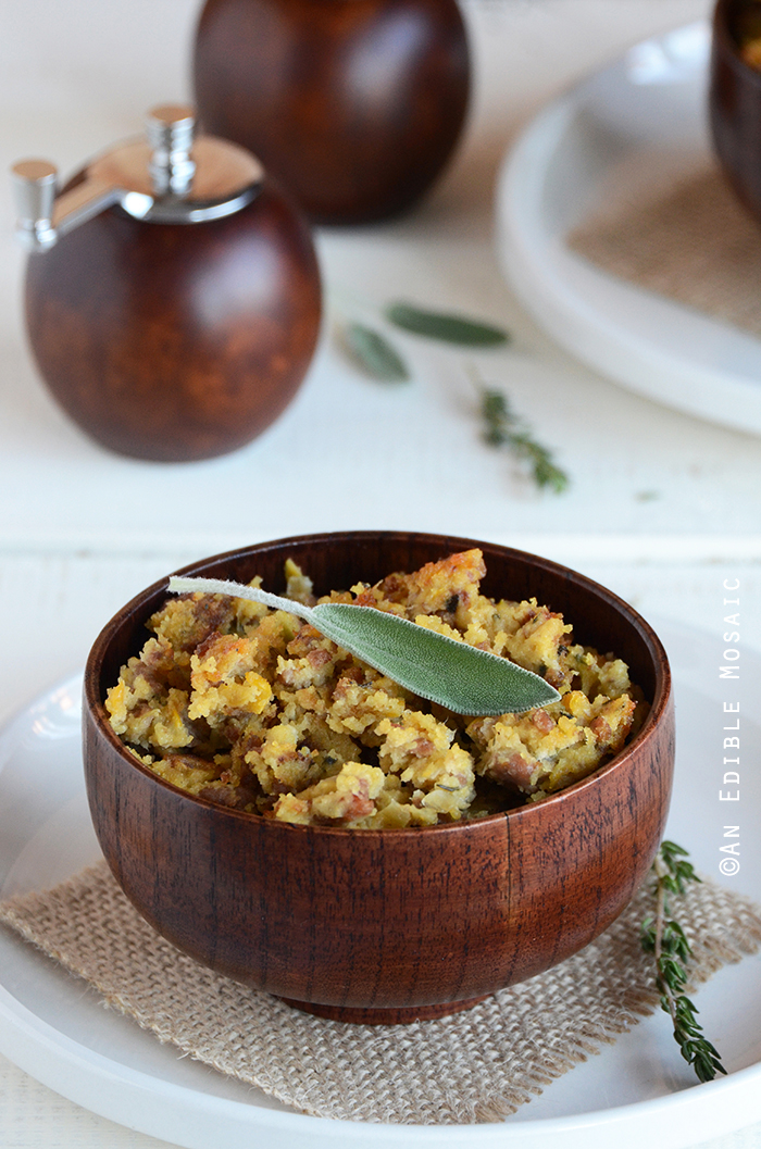 Turkey-Sage Cornbread Stuffing