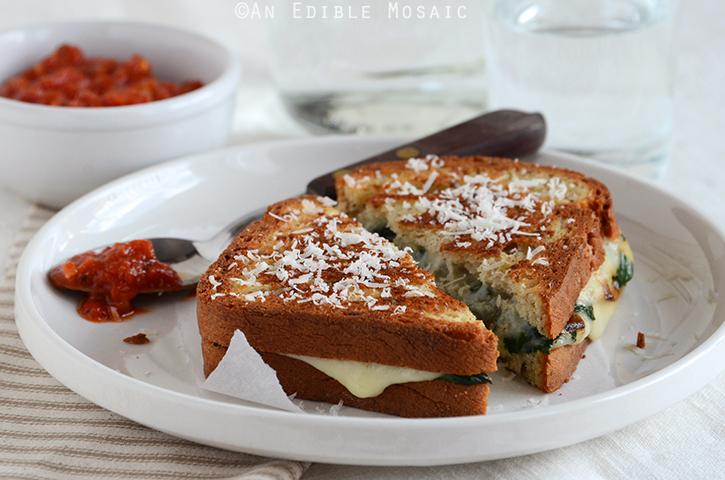 Spinach-Mozzarella Grilled Cheese 4