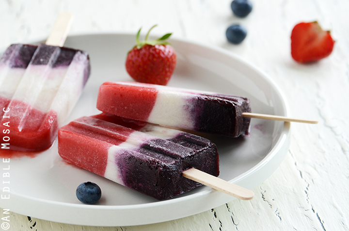 Red, White, and Blue Double Berry Coconut Pops 3