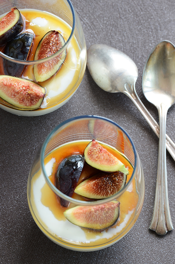 Yogurt Mousse with Honey and Fresh Figs 2